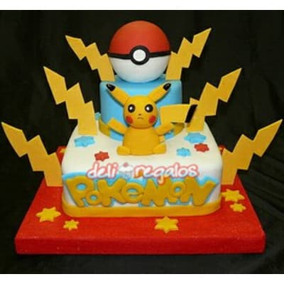 Torta Pokebola y Picachu - Whatsapp: 980-660044