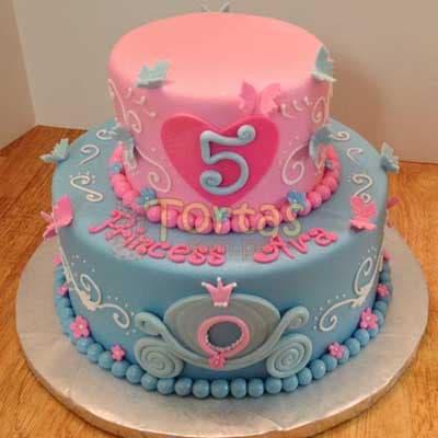 Torta Tematica de Princesas | Imágenes de Torta de Princesas - Cod:PRC03