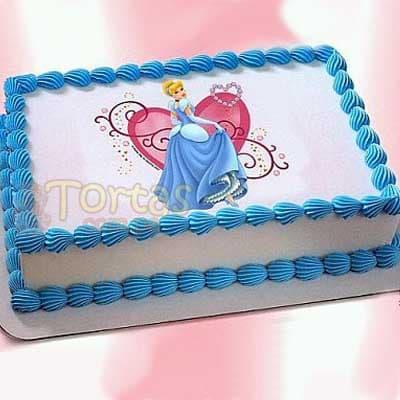 Torta para Princesas | Imágenes de Torta de Princesas - Cod:PRC06