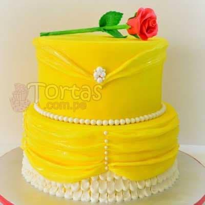 Torta Princesas para niña | Imágenes de Torta de Princesas - Cod:PRC07