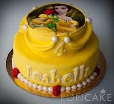 Torta de la tematica princesas | Imágenes de Torta de Princesas - Cod:PRC08
