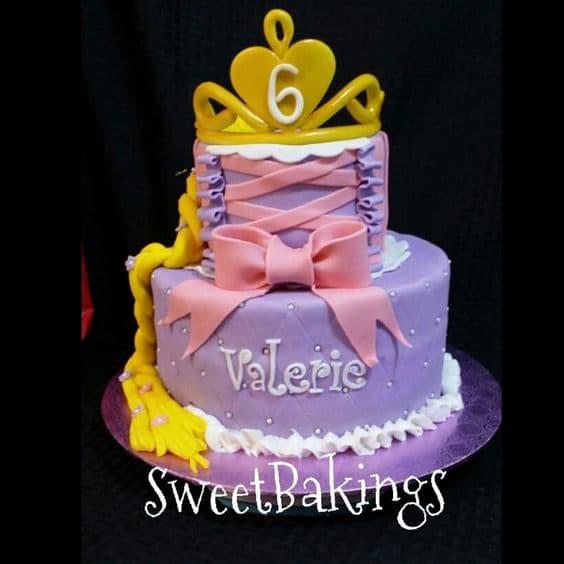 Pastel con tema Princesas | Imágenes de Torta de Princesas - Cod:PRC13