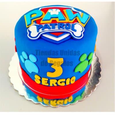 I-quiero.com - Torta Paw Patrol 01 - Codigo:PWP01 - Detalles: Torta a base de keke De Vainilla ba�ado con manjar blanco y forrado con masa elastica, incluye dise�o segun imagen. Tama�o: 15cm de diametro - - Para mayores informes llamenos al Telf: 225-5120 o 476-0753.