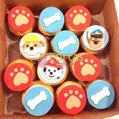 I-quiero.com - Cupcakes PawPatrol 02 - Codigo:PWP02 - Detalles: 12 Cupackes de vainilla, ba�ados con manjar y forrados con masa elastica segun dise�o de la imagen. - - Para mayores informes llamenos al Telf: 225-5120 o 476-0753.