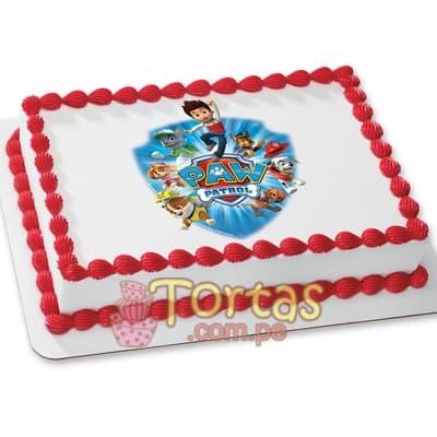 I-quiero.com - Foto Torta Paw Patrol - Codigo:PWP17 - Detalles: Torta a base de keke De Vainilla ba�ado con manjar blanco y forrado con masa elastica, incluye dise�o segun imagen. Tama�o: 20cm x 30cm - - Para mayores informes llamenos al Telf: 225-5120 o 476-0753.