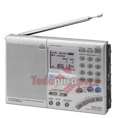 i-quiero.com - Sintonizador Mundial Sony - Codigo:QAF04 - Detalles: General Dimensiones (Alt x Anch x Prof)11.8x19x3.5mm Garant�a6 meses Peso220Grs Voltaje6  Pantalla Tipo de pantallaLCD Retroiluminado  Audio Potencia250mW Sintonizador AM530-1620 KHZ Digital Sintonizador FM87.5-108 MHZ Digital Sintonizador LW150-285 KHZ Digital Sintonizador SW3.85-26.1 MHZ Digital SonidoMono  Conectividad Aud�fonosSi (Mono) 3.5mm Ethernet LANSi 3.5mm  Conveniencia Funcion AlarmaSi Funcion SleepSi Funcionamiento a PilasSi 4 AA Presintonias100 Reloj IntegradoSi Sensibilidad Dx/LocalSi  - - Para mayores informes llamenos al Telf: 225-5120 o 476-0753.