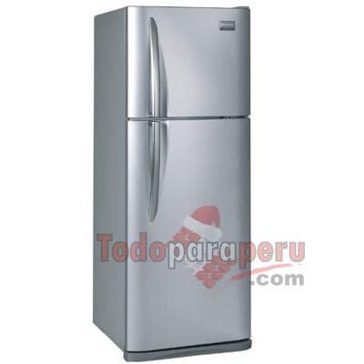 Refrigeradora Frigidaire - Codigo:QAL05 - Detalles: General ColorSilver Dimensiones (Alt x Anch x Prof)1690 x 620 x 670 mm Garant�a12 meses Patas ajustablesSi Peso64.5 Kg. Voltaje220 / 60GHz  Almacenamiento Capacidad312 L N� de anaqueles02 Congelador / 05 Conservador N� de bandejas01 Congelador / 02 Conservador N� de cajones para carnes fr�asSi N� de cajones para verduras01  Conveniencia Puerta02 Tipo de iluminaci�nLED  Refrigeraci�n Control de humedad en cajonesSi Control de temperaturaMec�nico Ice MakerSi Sistema de EnfriamientoNo frost  - - Para mayores informes llamenos al Telf: 225-5120 o 980-660044.