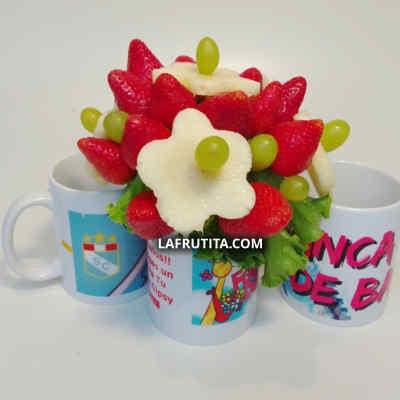 Frutas en Taza | Dulce Jardín | Arreglos frutales - Cod:QFE01