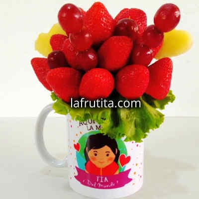 Fresas en taza | Dulce Jardín | Arreglos frutales - Whatsapp: 980-660044
