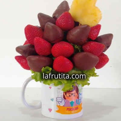 Arreglo con Frutas Cortadas en Taza - Cod:QFE07