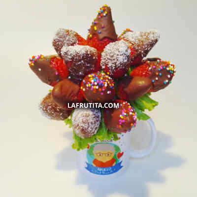 Arreglo Frutal para mi novio | Florerias Peru | Arreglos frutas Peru | canastas con frutas Peru  - Cod:QFE10