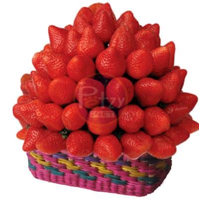 Cestas de Chocolate para Enviar | Cestas de frutas y Chocolate | Cesta de mimbre con Frutero  - Whatsapp: 980-660044