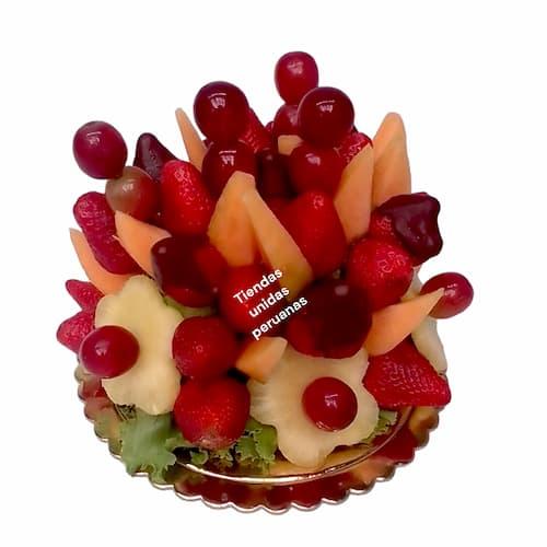 Fresas con Chocolate y frutas en cesta  - Cod:QFP05