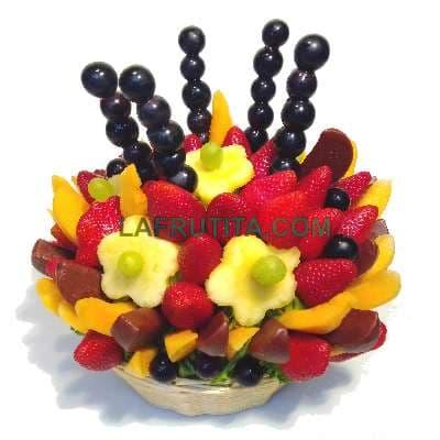 Frutas de estacion en cesta |Canastas de fruta empresas - Cod:QFP08