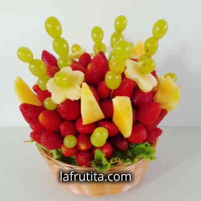 Frutero en Cesta con Fresas | Fresas con Chocolate | Frutero a domiclio - Cod:QFP10