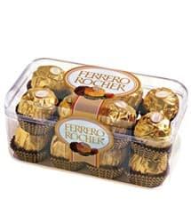 Tortas.com.pe - Caja 16 chocolates Ferrero Rocher - Codigo:REG07 - Detalles: 16 unidades de un exquisito y fino chocolate de la marca Ferrero Rocher.  - - Para mayores informes llamenos al Telf: 225-5120 o 476-0753.