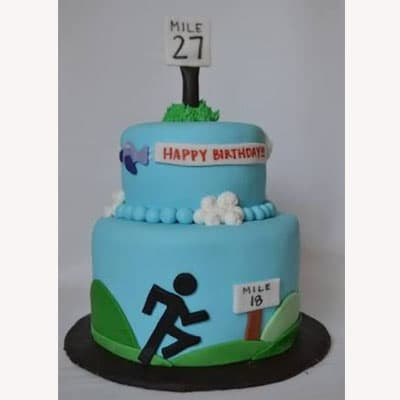 RUNNING 04 | Running themed Cake | Cake for a runner - Cod:RIG04