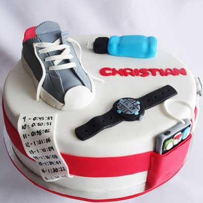 RUNNING 06 | Running themed Cake | Cake for a runner - Cod:RIG06