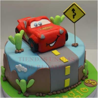 Torta de Cars | Tortas de cars para cumpleaños | Tortas Pixar - Whatsapp: 980-660044