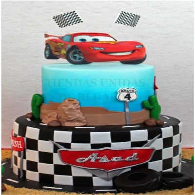 Torta Cars 09 | Tortas de cars para cumpleaños | Tortas Pixar - Whatsapp: 980-660044