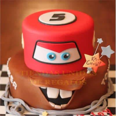 Torta Rayo Mcqueen 04- Whatsapp: 980-660044