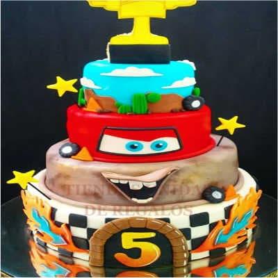 Torta Rayo Mcqueen 05 | Tortas de cars para cumpleaños | Tortas Pixar - Whatsapp: 980-660044