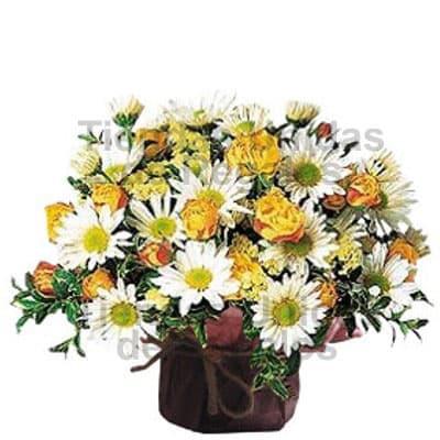 i-quiero.com - Arreglo Floral para Secretaria - Codigo:SEC06 - Detalles: envases de cer�mica conteniendo Arreglo floral con flores de estaci�n con una altura de entre 25 y 28cm. El color de las flores es solo referencial.   - - Para mayores informes llamenos al Telf: 225-5120 o 476-0753.