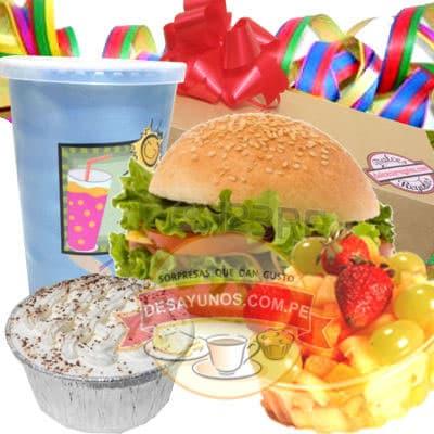i-quiero.com - Desayuno para enviar por el dia de la Secretaria - Codigo:SEC08 - Detalles: caja de regalos conteniendo, jugo de fruta, sanwich de lomito ahumado en pan especial, incluye postre de tres leches, 3 palitos de queso, mermelada personal, ensalada de frutas. Incluye tarjeta de dedicatoria - - Para mayores informes llamenos al Telf: 225-5120 o 476-0753.