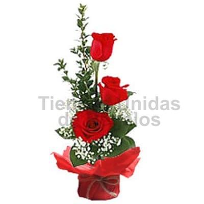 Arreglo de Rosas para Secretaria | Arreglos Florales para Secretarias - Cod:SET07