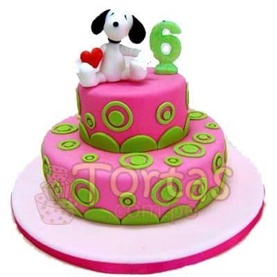 Torta Snoopy de dos pisos | Torta Snoppy | Pastel de Snoopy - Cod:SNP02