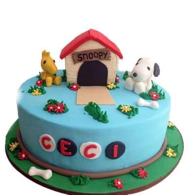 Torta Snoopy y amigos - Cod:SNP03