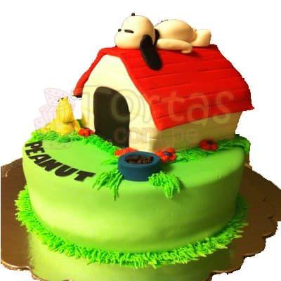 Torta Snoopy en su casa - Cod:SNP05