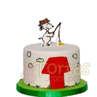 Torta casa de snoppy - Cod:SNP06