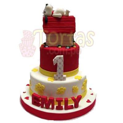 Torta Snoopy de tres pisos - Cod:SNP07
