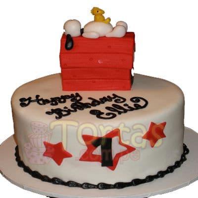 Torta Casa de Snoppy | Torta Snoppy | Pastel de Snoopy - Cod:SNP09