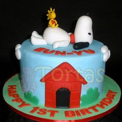 Torta Snoopy y amigos - Whatsapp: 980-660044