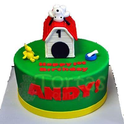 Torta Snoopy en 3d - Cod:SNP12