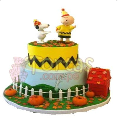 Torta Charlie Brown y Snoopy | Torta Snoppy | Pastel de Snoopy - Whatsapp: 980-660044