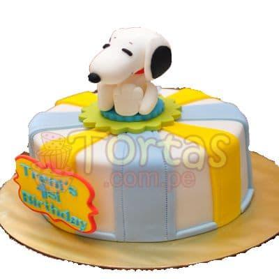 Torta Snoopy Especial - Whatsapp: 980-660044