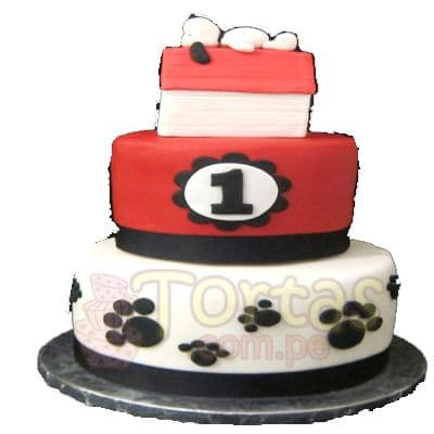 Torta Snoopy Grande decorada - Whatsapp: 980-660044