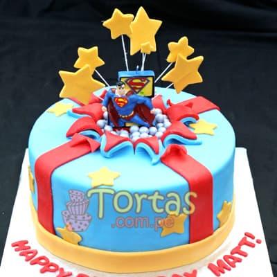 Torta de Tematica de SuperMan | Tortas de Superman - Whatsapp: 980-660044