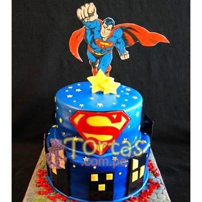 Torta de SuperMan - Whatsapp: 980-660044
