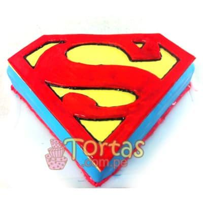 Pastel de Superman | Tortas de Superman - Whatsapp: 980-660044