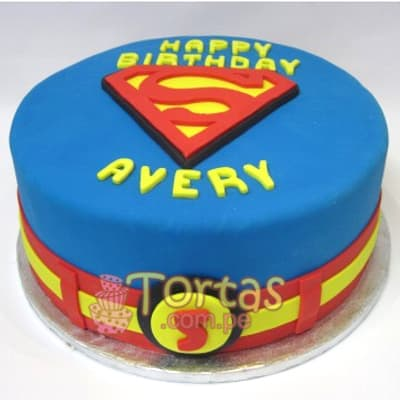 Pastel con tematica Superman - Whatsapp: 980-660044