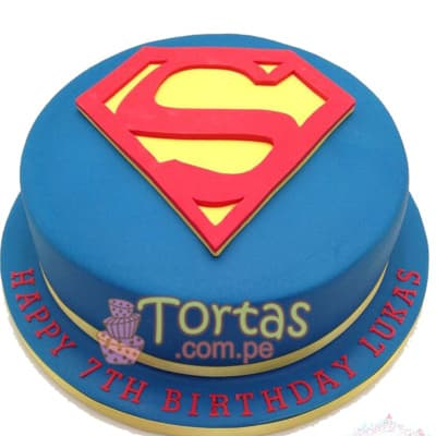Pastel con el Tema Superman - Whatsapp: 980-660044