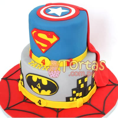 Torta de Superman mediana - Cod:SPN13