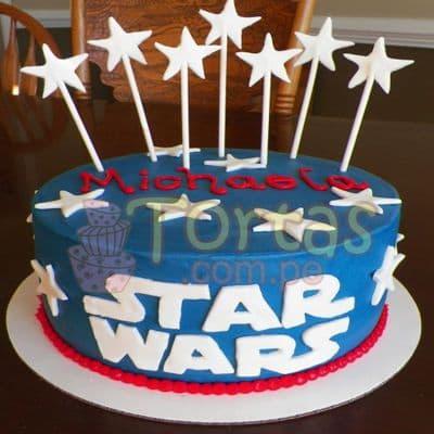 Torta Guerra de las Galaxias | Tortas Stars Wars - Cod:STW08