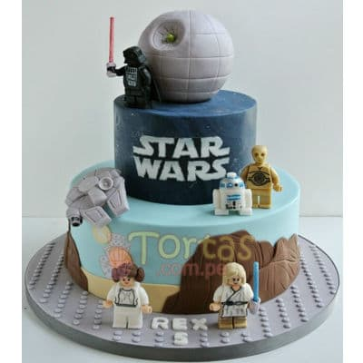 Torta Estrella de la muerte | Tortas Stars Wars - Cod:STW17