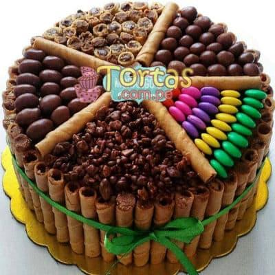 Tortas.com.pe - Torta Candy 01 - Codigo:TAA01 - Detalles: Espectacular torta a base de keke De Vainilla ba�ado con manjar . Contiene dulces segun imagen bastones dulces a los costados y caramelos surtidos en la parte superior. Tama�o de la torta: 20cm de diametro  - - Para mayores informes llamenos al Telf: 225-5120 o 476-0753.