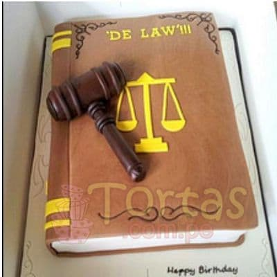 Torta para Abogados | Torta de Derecho - Cod:TAG01